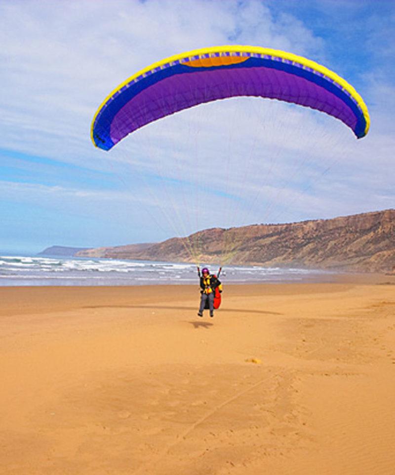 Paragliding Mirleft Morocco Iktichaf Travel