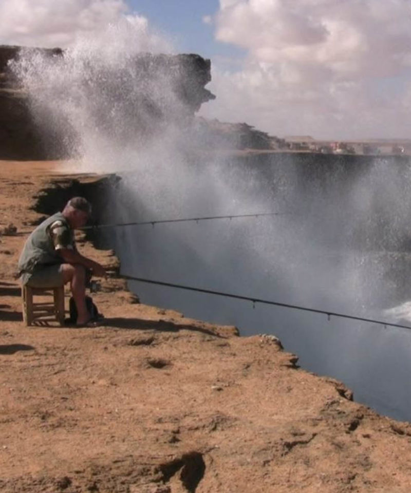 Fishing Akhfennir Cliff Morocco Iktichaf Travel