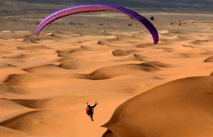 Paragliding Merzouga Desert Morocco Iktichaf Travel