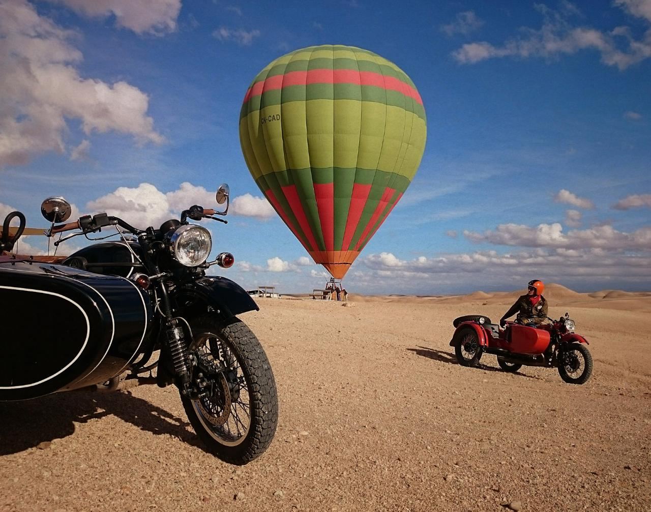 Side Car Hot Air Balloon Marrakech Iktichaf Travel