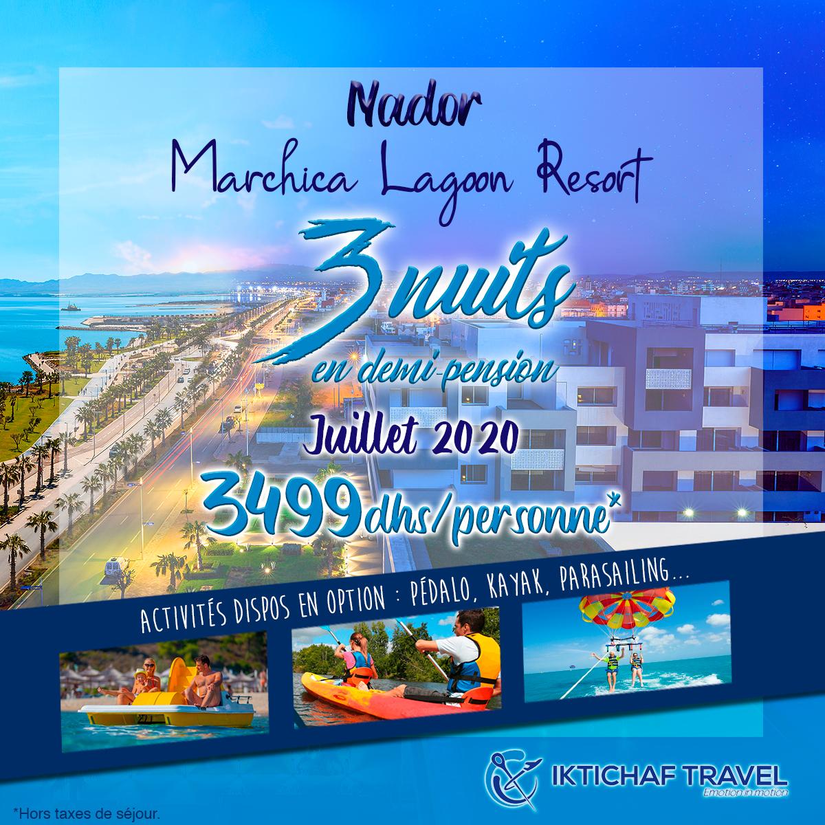Offres Iktichaf Travel - Marchica Lagoon Resort